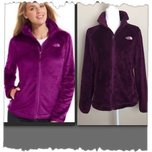 The North Face Osito Purple Fleece Zip Up Jacket